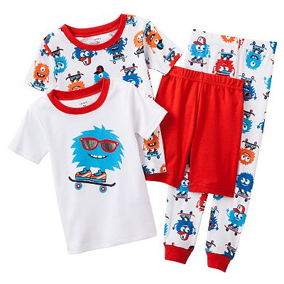 Carter's Monster Skateboarder Pajama Set - Toddler