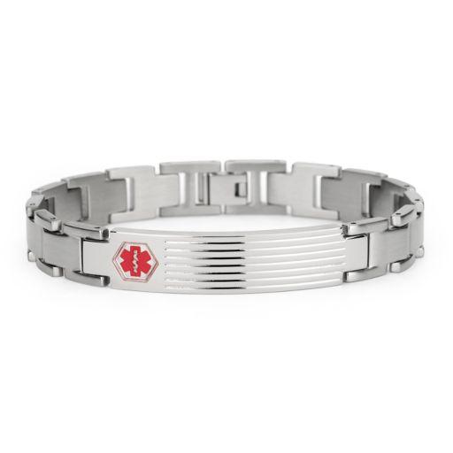 Stainless Steel Medical Alert ID Bracelet