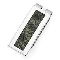 Stainless Steel Gator Print Money Clip