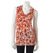 Dana Buchman Animal Drapeneck Top