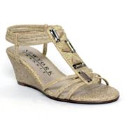 New York Transit Greetings T-Strap Wedge Sandals - Women