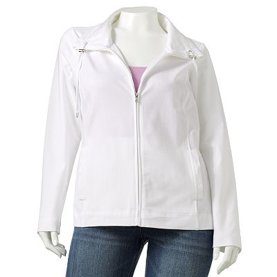 Croft and Barrow Solid Jacket - Women's Plus