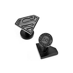 Superman Satin Black Shield Cuff Links