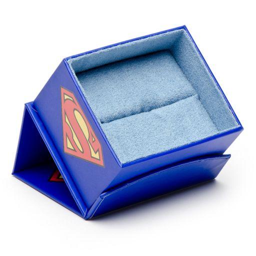 Superman Satin Black Shield Cuff Links