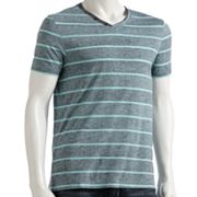 Helix Striped V-Neck Tee - Men