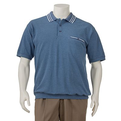 Safe Harbor Striped Collar Polo - Big and Tall