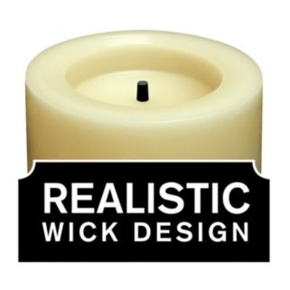 Inglow Vanilla 3 x 4 Flameless LED Rustic Pillar Candle