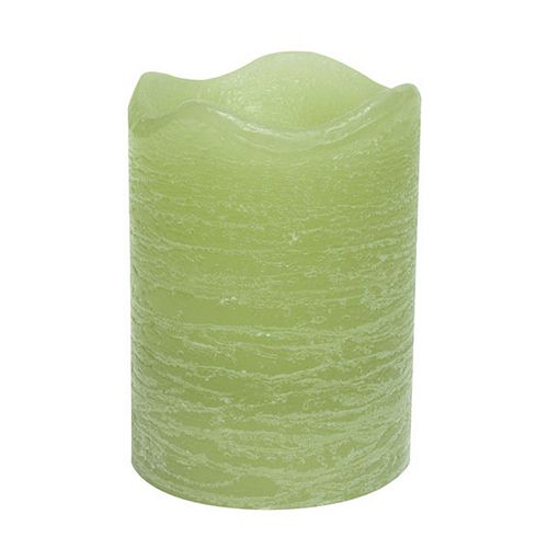 "Inglow Citrus Sage 3"" x 4"" Flameless LED Rustic Pillar Candle"