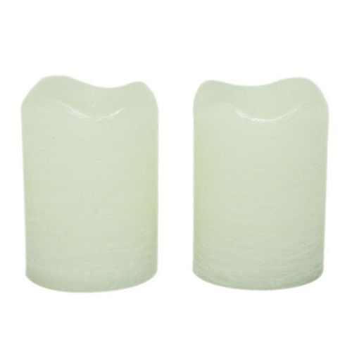 Inglow 2-pk. Vanilla Flameless LED Rustic Votive Candles