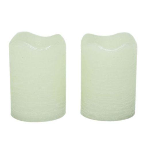 Inglow 2-pk. Vanilla Flameless LED Rustic Votive Candles