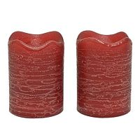Inglow 2-pk. Pomegranate Flameless LED Rustic Votive Candles