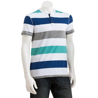 Urban Pipeline Striped Chambray Henley - Men