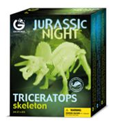 Jurassic Night Glow-in-the-Dark Triceratops Skeleton