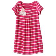Design 365 Striped Rosette Dress - Girls 4-7