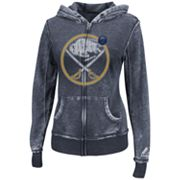 Majestic Buffalo Sabres Delayed Call Burnout Fleece Hoodie - Women