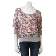 About A Girl Floral Dolman Sweater - Juniors