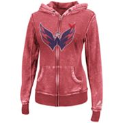 Majestic Washington Capitals Delayed Call Burnout Fleece Hoodie - Women