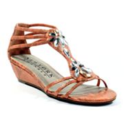 New York Transit Some Art T-Strap Wedge Sandals - Women