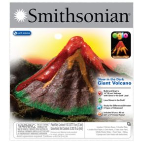 Smithsonian Glow-in-the-Dark Giant Volcano Kit by NSI