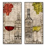 2-pc. Wine Silhouettes Wall Art Set