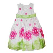 Blueberi Boulevard Dot Dress - Girls 4-6x