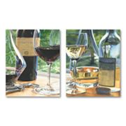 2-pc. Red and White Wine Wall Art Set