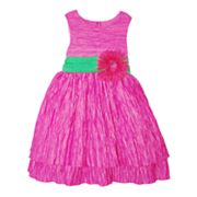 Blueberi Boulevard Crinkle Dress - Girls 4-6x
