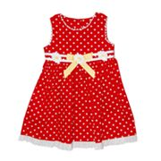 Blueberi Boulevard Polka-Dot Daisy Sundress - Girls 4-6x