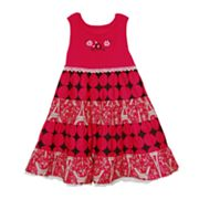 Blueberi Boulevard Printed Sundress - Girls 4-6x