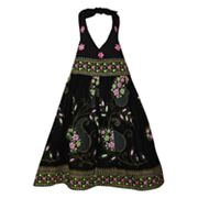 Blueberi Boulevard Floral Halter Sundress - Girls 4-6x