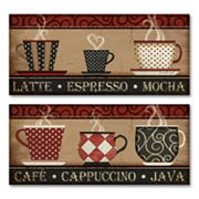 Coffee & Cappuccino 2-pc. Wall Art Set