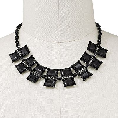 Apt. 9 Black Simulated Crystal Collar Necklace