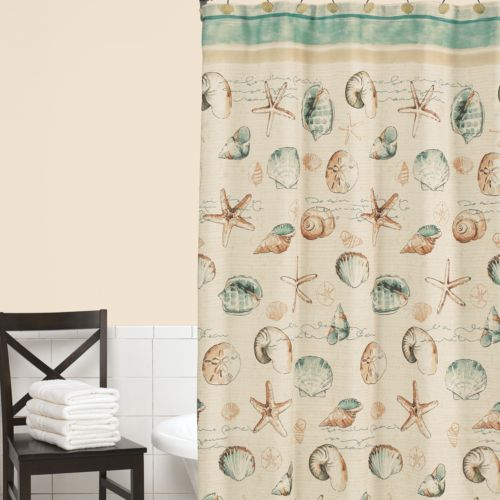 Home Classics® Sea Splash Fabirc Shower Curtain