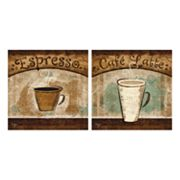 2-pc. Espresso And Cafe Latte Wall Art Set