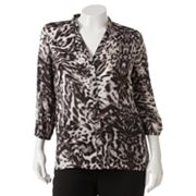 Jennifer Lopez Animal Blouse - Women's Plus