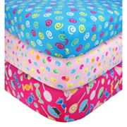 Trend Lab 3-pk. Sweets Flannel Crib Sheets