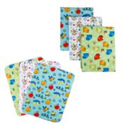 Trend Lab Critters Flannel Blanket and Burp Cloth Set