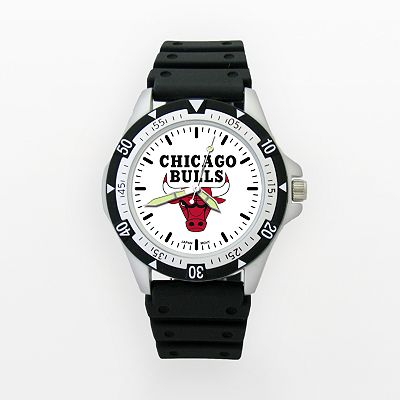 LogoArt Chicago Bulls Silver Tone Resin Watch - BUL135 - Men