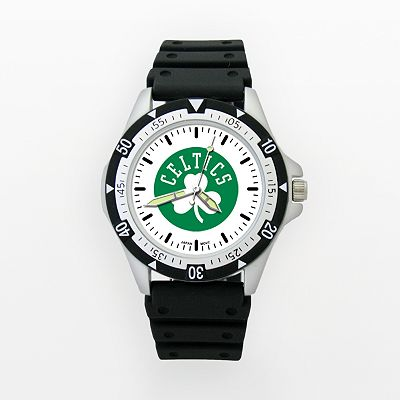 LogoArt Boston Celtics Silver Tone Resin Watch - CEL135 - Men