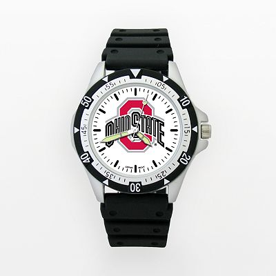 LogoArt Ohio State Buckeyes Silver Tone Resin Watch - OSU135