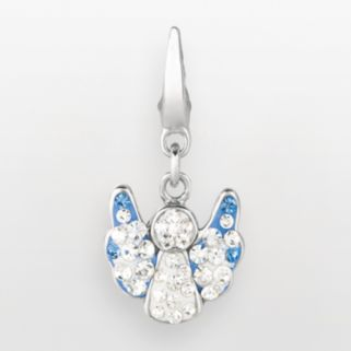 Sterling Silver Crystal Angel Charm