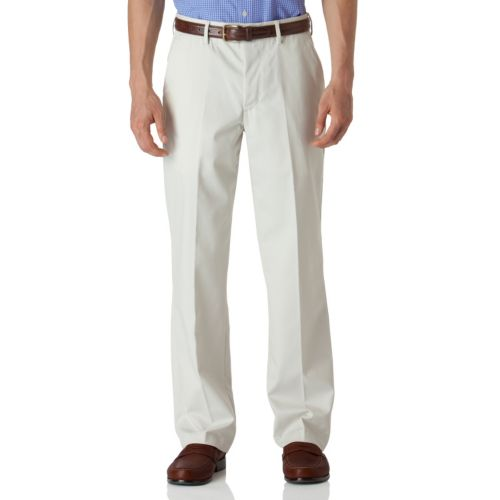 Chaps Easy-Care Stain-Resistant Flat-Front Pants - Big and Tall
