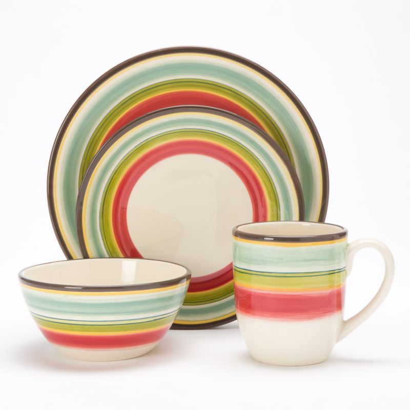Bobby Flay Santa Fe Striped 4-pc. Place Setting