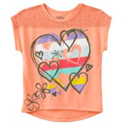 Mudd Heart Lace-Piece Top - Girls 4-6x