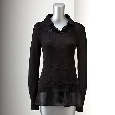 Simply Vera Vera Wang Mock-Layer Sweater