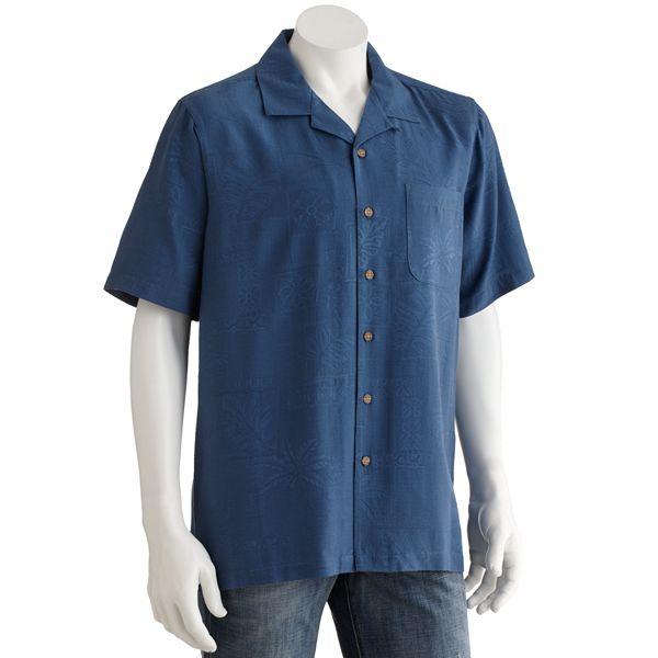 Batik bay batik bay silk floral casual button for Men s batik bay silk blend button down shirt