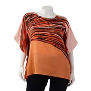 Dana Buchman Brushstroke Poncho Top - Women's Plus
