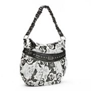 ELLE Gardenia Floral Pleated Hobo