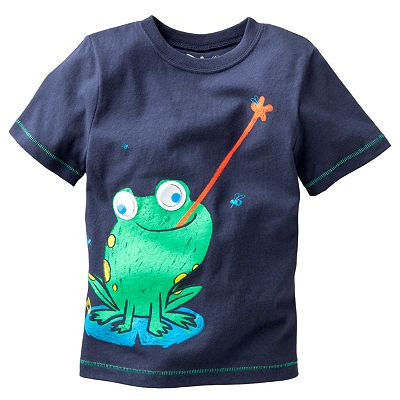 Jumping Beans Frog Googly Eye Tee - Toddler