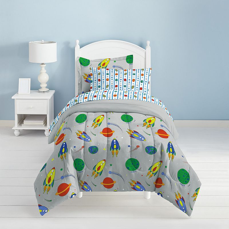 Dream Factory Space Rocket 5-pc. Bed Set - Twin, Grey, TWIN BAG